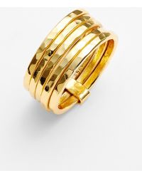 Argento Vivo Five-Row Band Ring gold - Lyst