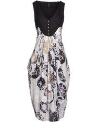 High Knee-Length Dress - Lyst