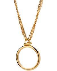 Chloé Necklace gold - Lyst