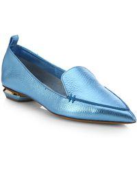 Nicholas Kirkwood Metallic Leather Loafers - Lyst