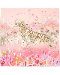 Ferragamo Leopard Print Scarf - Lyst