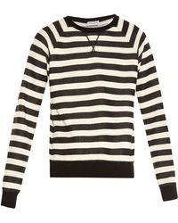 Saint Laurent | Striped Crew-Neck Sweater | Lyst