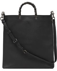 Gucci Convertible Leather Tote Bag - Lyst