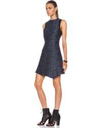 Proenza Schouler Stone Print Silk Jacquard High Neck Tank Dress - Lyst
