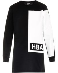 Hood By Air Illusion Block-Print Cotton-Jersey Top - Lyst