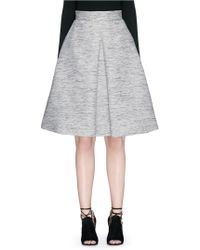 Alexander McQueen | Inverted Box Pleat Tweed Flare Skirt | Lyst
