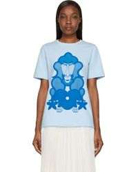 Ostwald Helgason - Blue Baboon Print T_shirt - Lyst