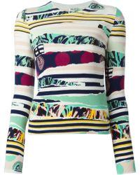 Kenzo 'Torn' Intarsia Sweater - Lyst
