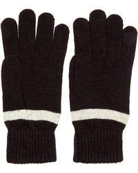 Ben Sherman Striped Knit Gloves - Lyst