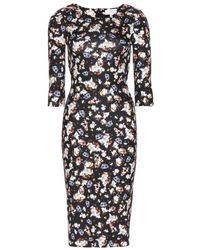 Erdem Wilhemina Printed Jersey Dress - Lyst