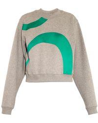 Acne Studios Bird Satin-appliqué Jersey Sweatshirt - Lyst