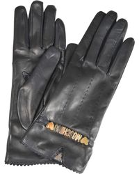 Moschino - Leather Gloves - Lyst