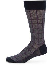 Saks Fifth Avenue Black Label - Dotted Grid Socks - Lyst