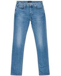 Paul Smith   Men's Straight-fit Light-wash Stretch-denim Jeans   Lyst