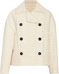 Proenza Schouler Cotton-Blend Bouclé-Tweed Jacket - Lyst