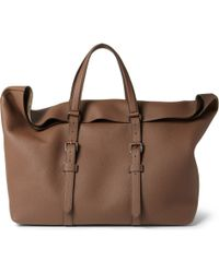 Gucci Large Fullgrain Leather Holdall - Lyst