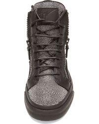 Giuseppe Zanotti London Leather Sneakers - Lyst