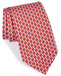 Ferragamo Monkey Print Silk Tie - Lyst