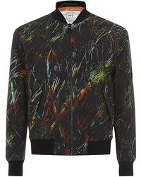 McQ by Alexander McQueen Rainbow Scratch Print Bomber Jacket - Lyst