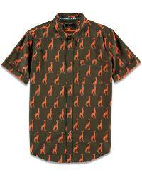 b25c2ce886 Forever 21 - Giraffe Print Collared Shirt - Lyst