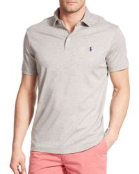 Polo Ralph Lauren Pima Soft-Touch Polo gray - Lyst