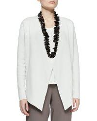 Eileen Fisher Silk-Cotton Interlock Jacket - Lyst