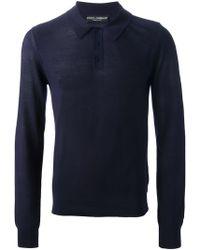 Dolce & Gabbana Long Sleeve Polo Shirt - Lyst
