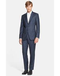 Paul Smith 'Byard' Trim Fit Plaid Suit blue - Lyst