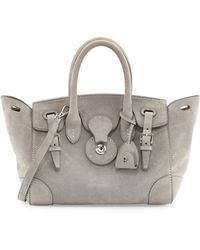 Ralph Lauren Soft Ricky 27 Suede Satchel Bag - Lyst