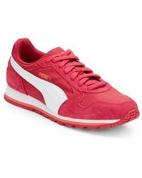 Puma Suede Paneled Runner Sneakers - Lyst