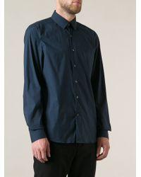 Valentino Blue Classic Shirt - Lyst