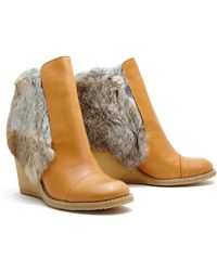 See By Chloé Fur Lined Ankle Boots - Lyst
