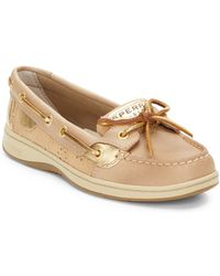 Sperry Angelfish Leather  Eyelet Boat Shoes - Lyst