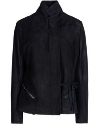 Ann Demeulemeester Leather Outerwear - Lyst