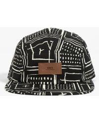 Obey Riviera 5 Panel Hat black - Lyst