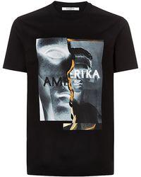 Givenchy Spliced Amerika Print T-Shirt - Lyst