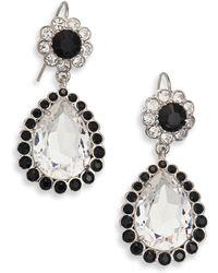 Miu Miu | Crystal Pear Drop Earrings | Lyst