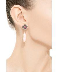 Arman Sarkisyan - Pink Opal and Tourmaline Flower Drop Earrings - Lyst