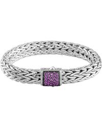 John Hardy Classic Chain 11mm Large Braided Silver Bracelet - Lyst