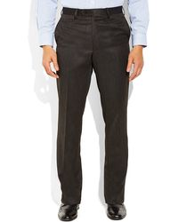Tommy Hilfiger Charcoal Flat Front Pants - Lyst