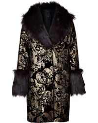 Anna Sui Black and Gold Jacket - Lyst