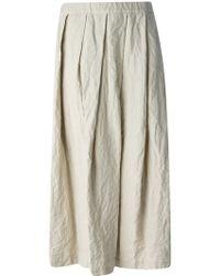 Comme des Garçons Beige Pleated Skirt - Lyst