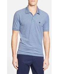 Brooks Brothers Two-Tone Striped Polo Shirt blue - Lyst