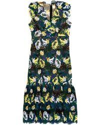 Erdem Alex Floral Guipure-Lace Dress green - Lyst