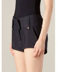 Anthony Vaccarello - High Waisted Shorts - Lyst
