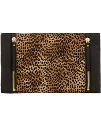 Vince Camuto Baily Leather and Hair Calf Clutch - Lyst