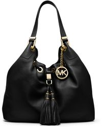 Michael Kors Camden Large Leather Shoulder Bag - Lyst