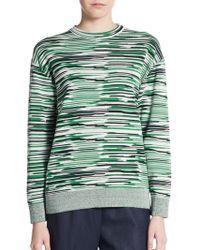 Stella McCartney Space Dye Crewneck Sweater - Lyst