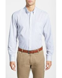 Cutter & Buck 'Epic Easy Care' Classic Fit Wrinkle Resistant Stripe Sport Shirt - Lyst