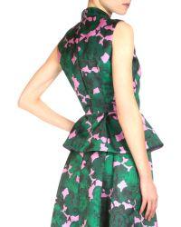 Erdem - Hilda Floral-print Peplum Top - Lyst